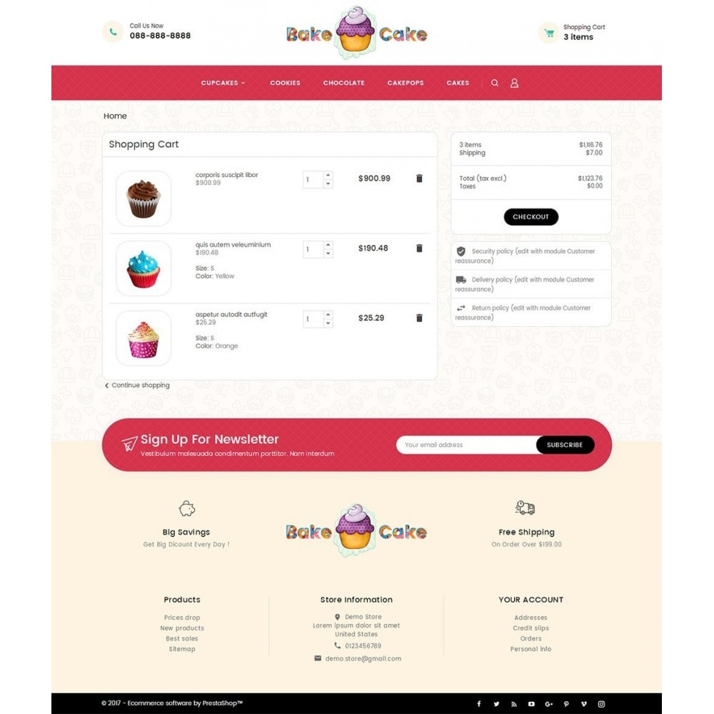 theme - Cibo & Ristorazione - Cake Shop - 8