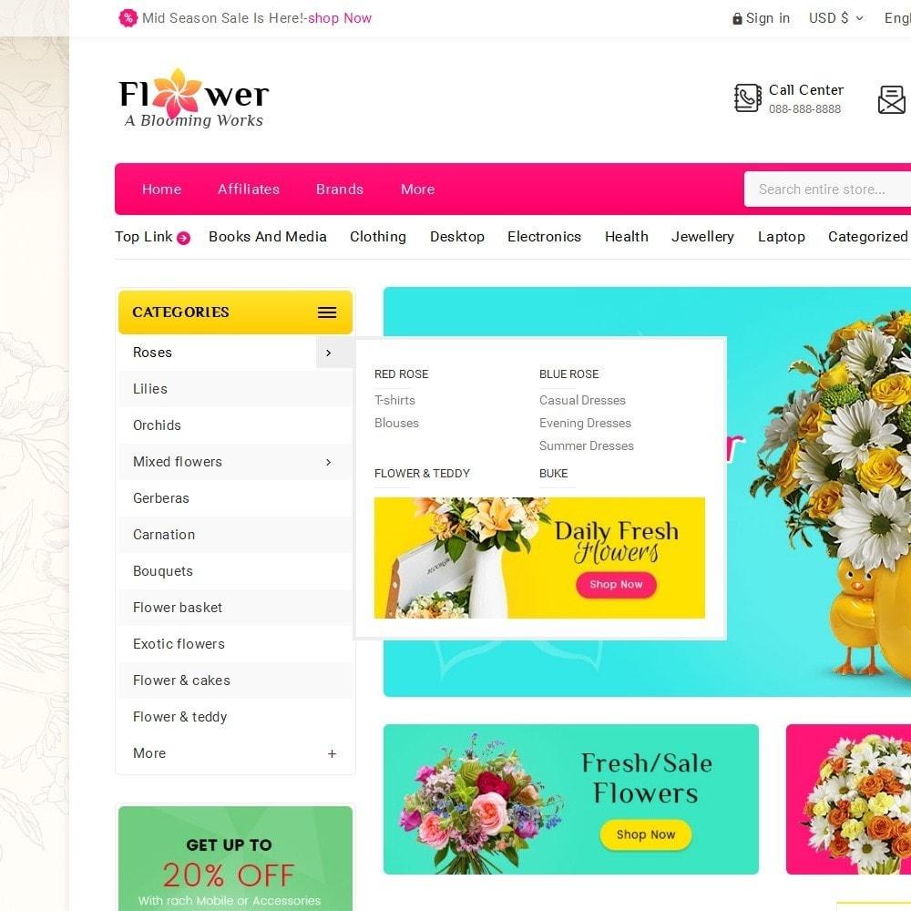 theme - Cadeaux, Fleurs et Fêtes - Blooming Flower Mega Store - 10