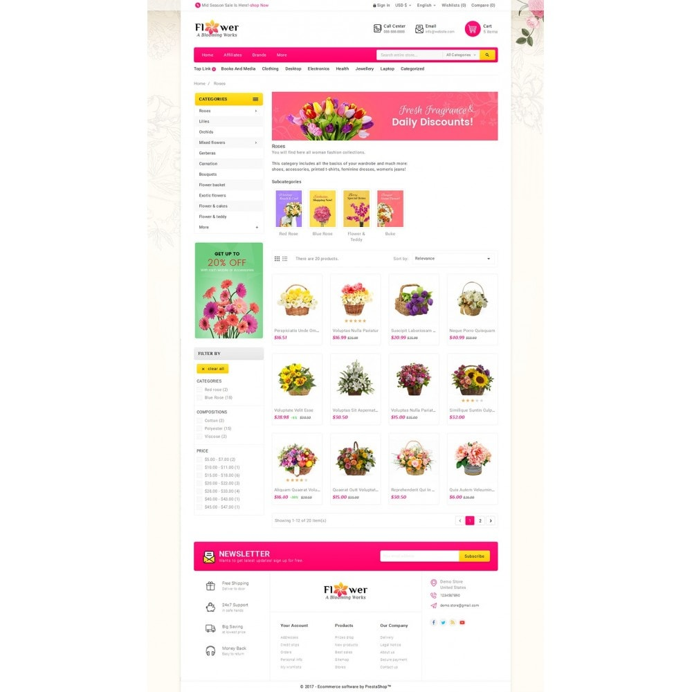 theme - Regalos, Flores y Celebraciones - Blooming Flower Mega Store - 4