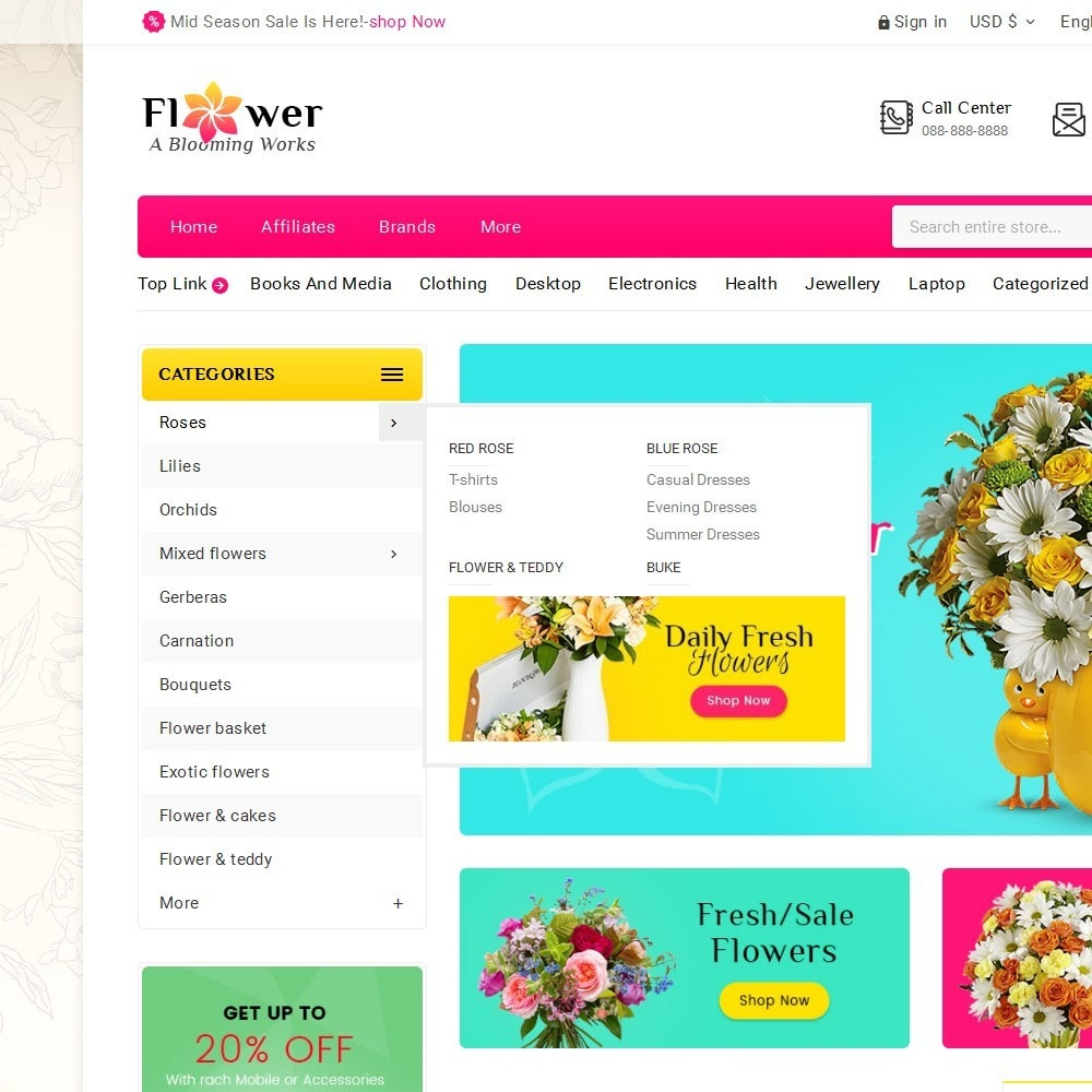 theme - Geschenke, Blumen & Feiern - Blooming Flower Mega Store - 10