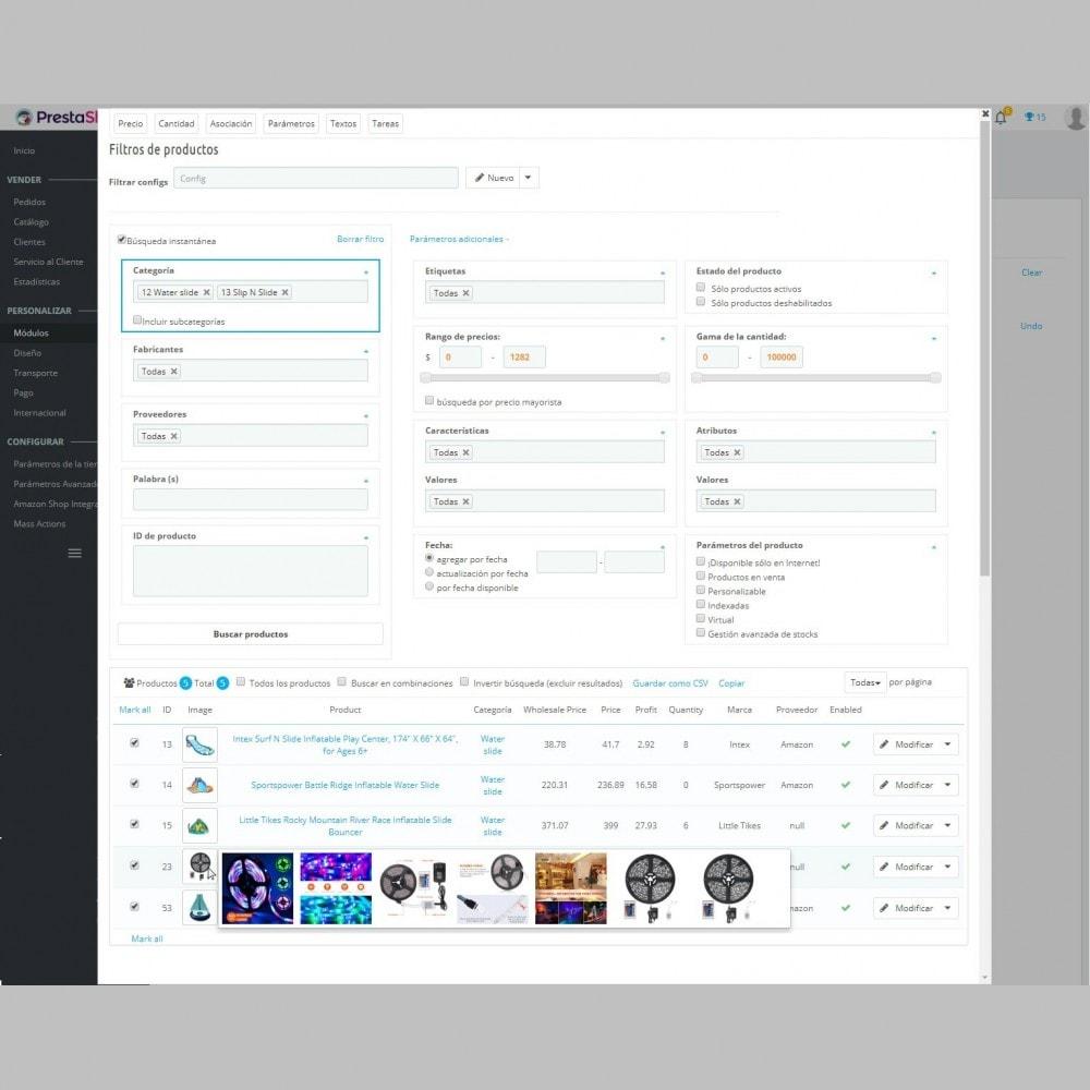 module - Edición Rápida y Masiva - Parámetros de Productos de Edición Masiva - 1