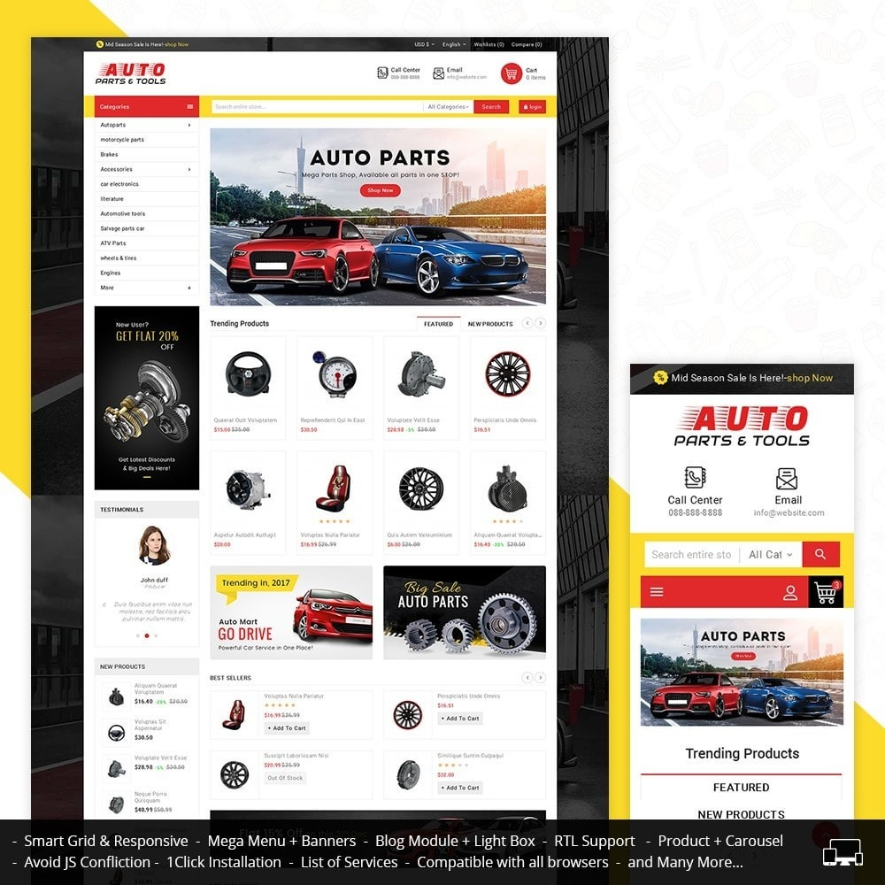 theme - Coches y Motos - Auto Parts Mega Store - 2