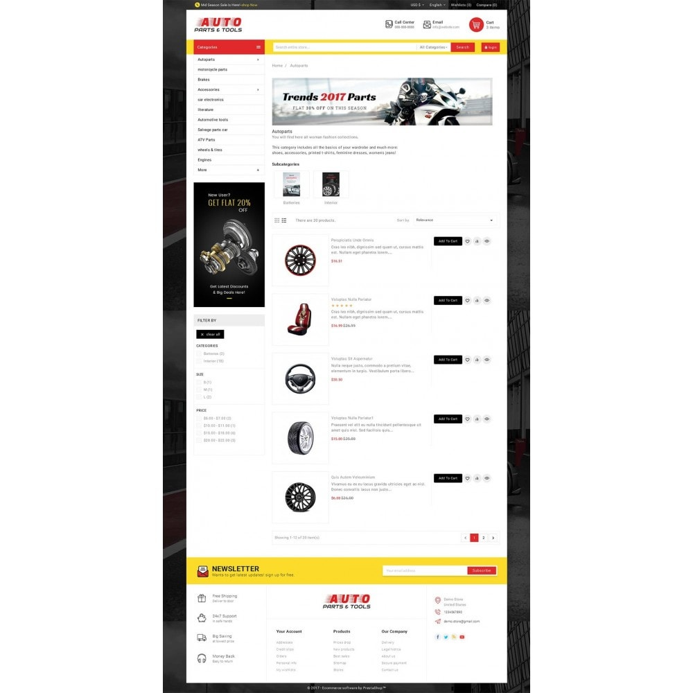 theme - Autos & Motorräder - Auto Parts Mega Store - 5
