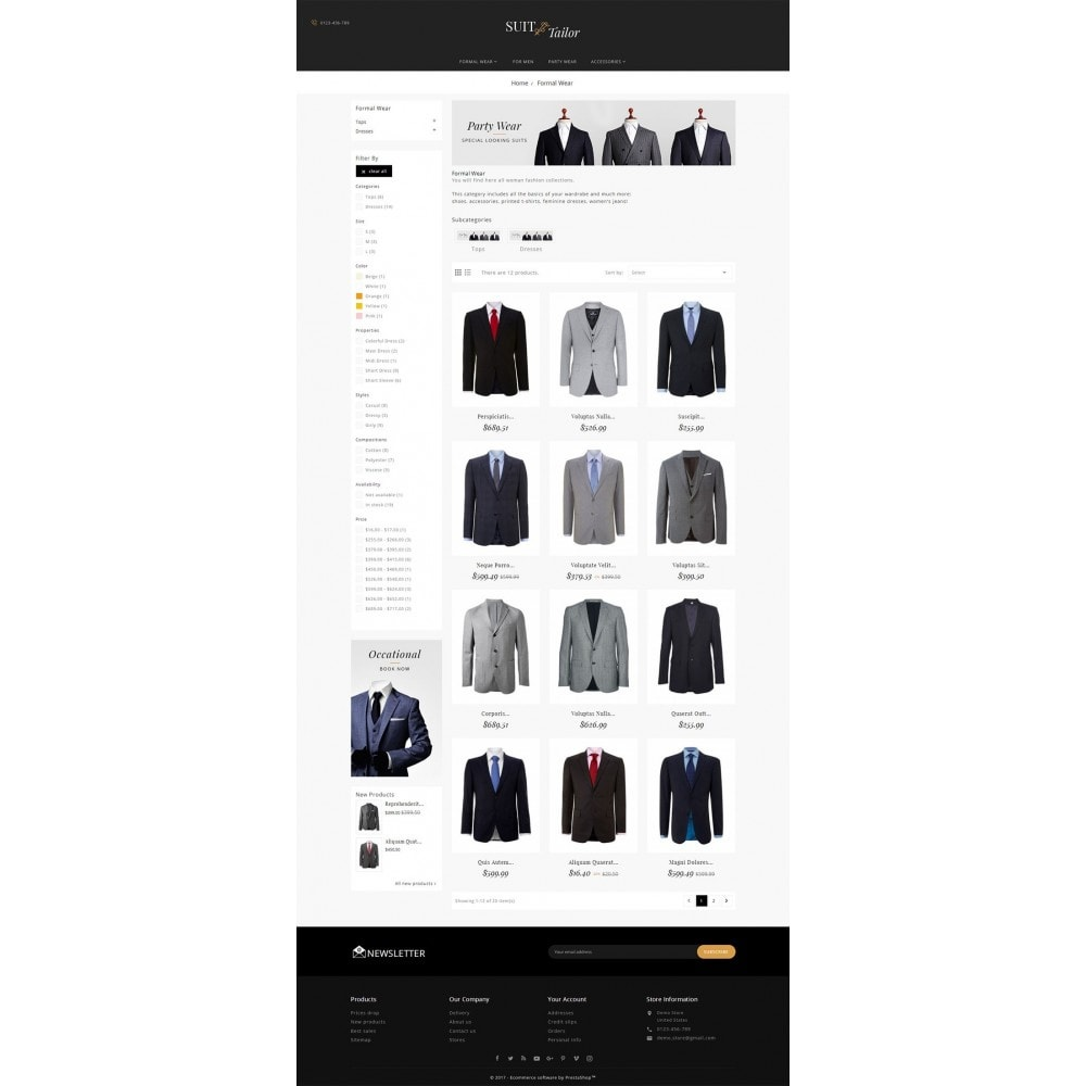 theme - Mode & Chaussures - Suit/Tailor Store - 4