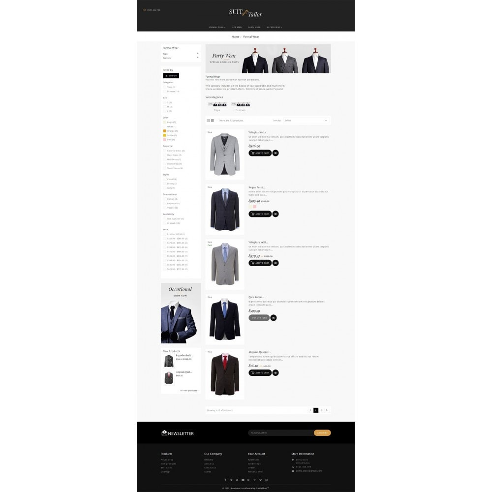 theme - Mode & Chaussures - Suit/Tailor Store - 5