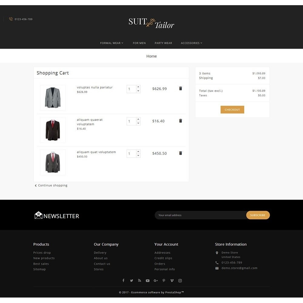 theme - Mode & Chaussures - Suit/Tailor Store - 7