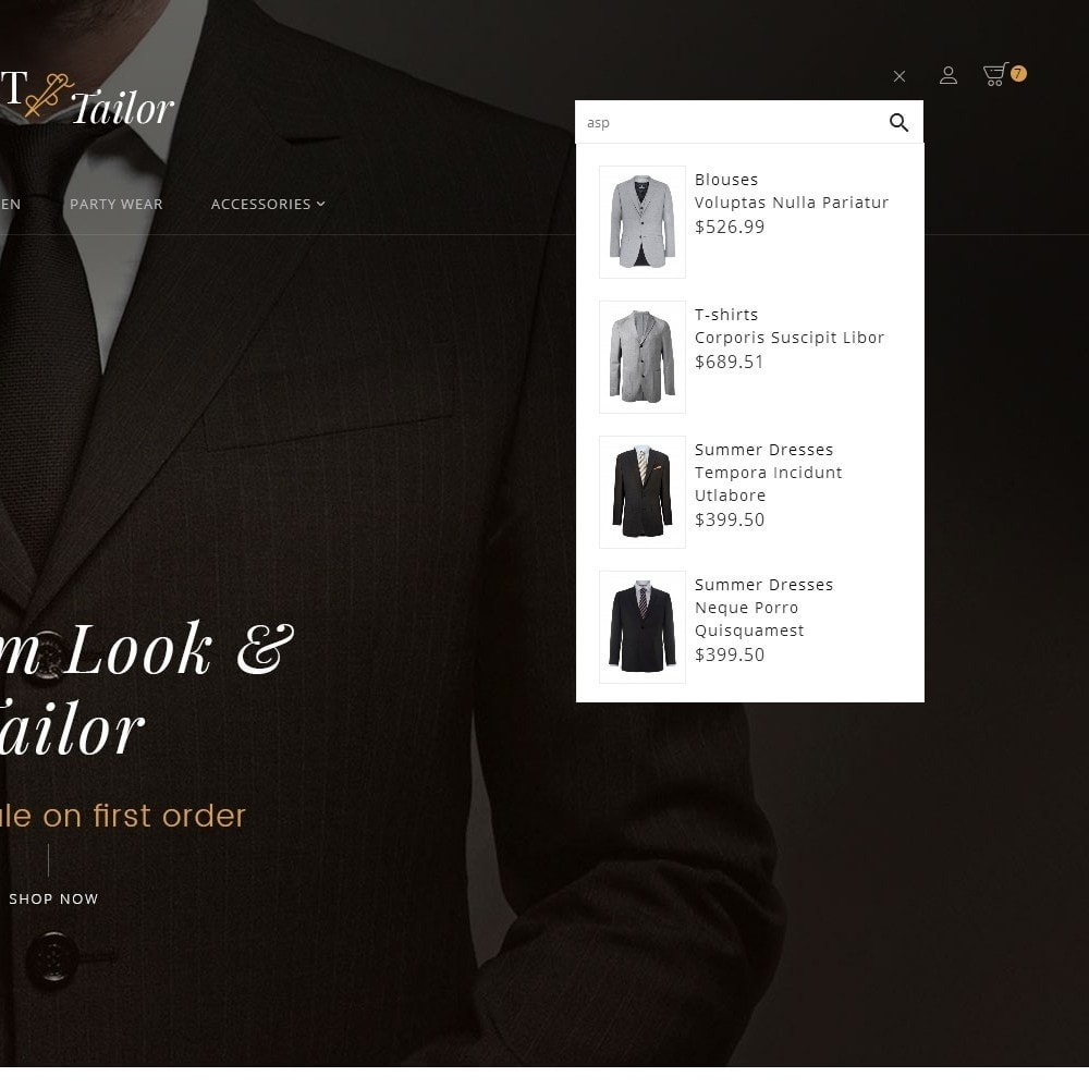 theme - Mode & Chaussures - Suit/Tailor Store - 11
