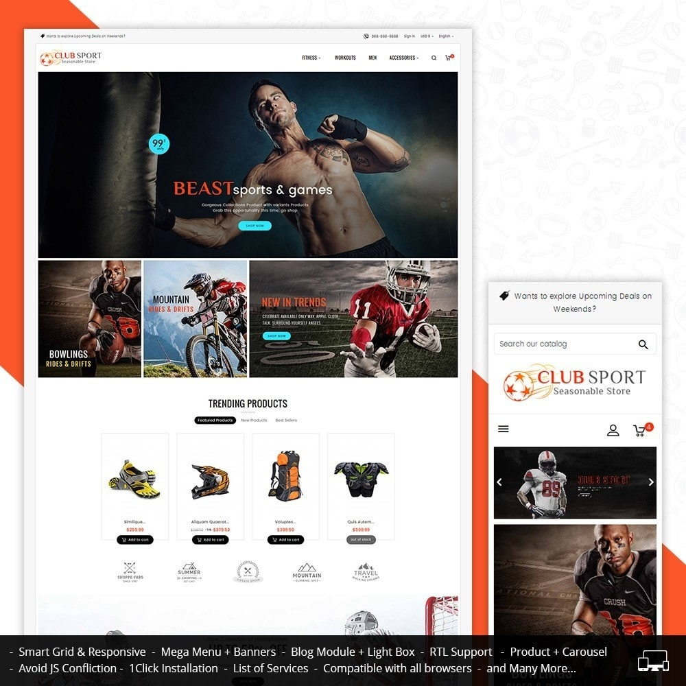 theme - Sport, Attività & Viaggi - Sports Club - 2