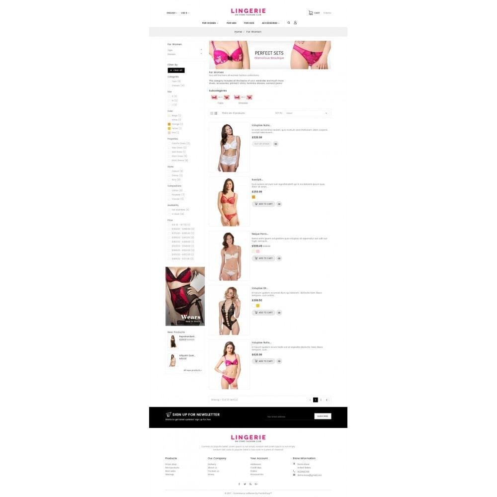 theme - Lingerie & Adulti - Lingerie Shop - 5