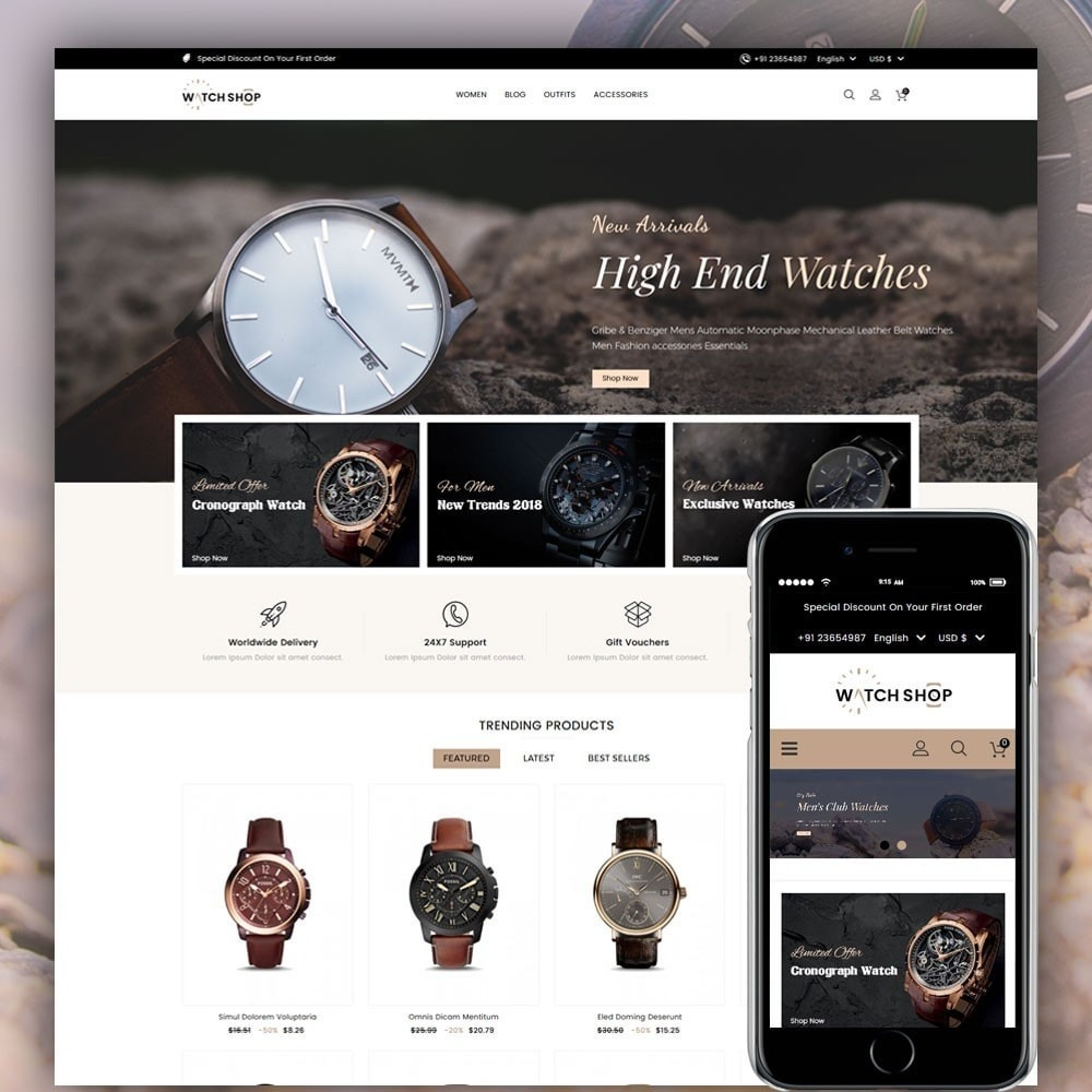 theme - Bellezza & Gioielli - Watch Shop - 1