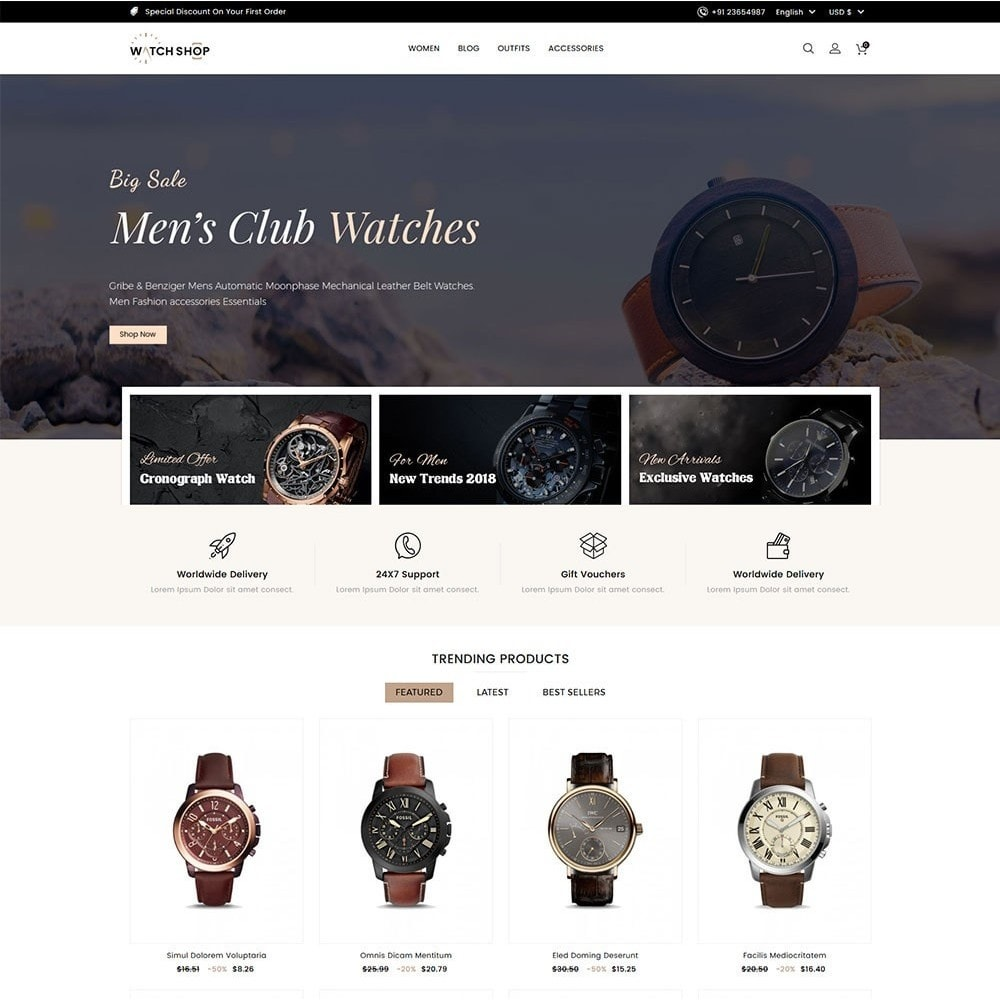 theme - Bellezza & Gioielli - Watch Shop - 2