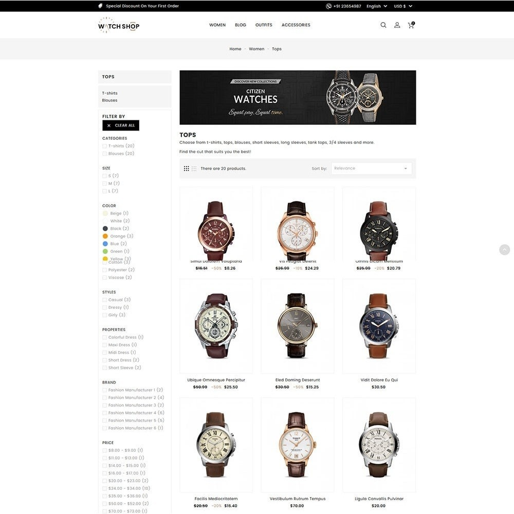 theme - Bellezza & Gioielli - Watch Shop - 4