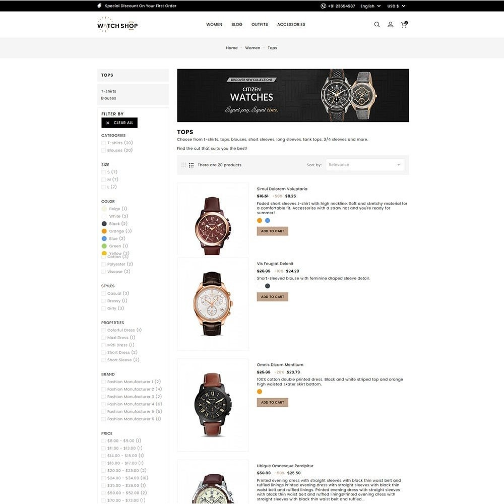 theme - Bellezza & Gioielli - Watch Shop - 5