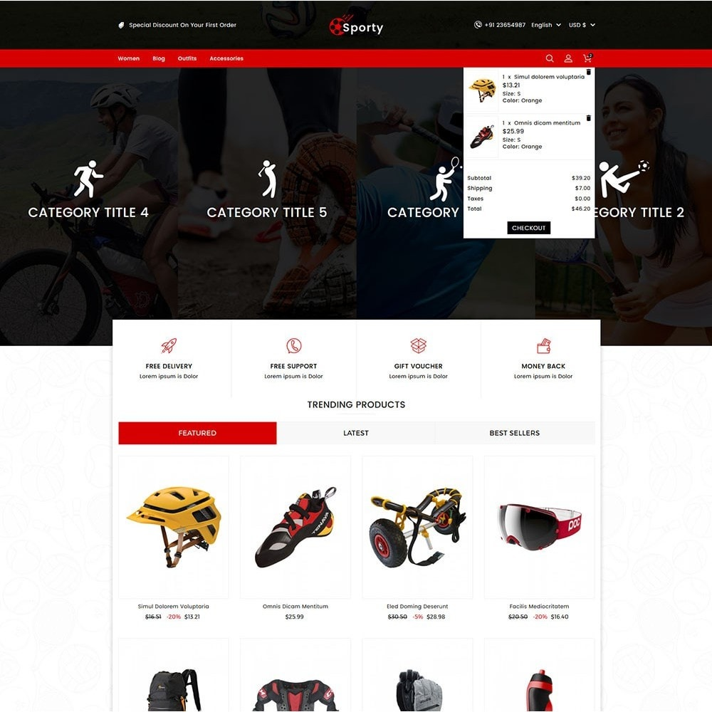 theme - Desporto, Actividades & Viagens - Sporty Game and Sports Store - 2