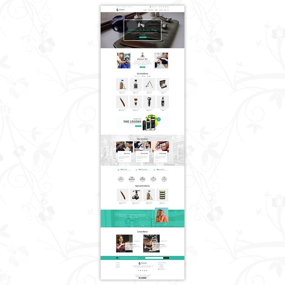 theme - Health & Beauty - Styleme - Barber Store - 2