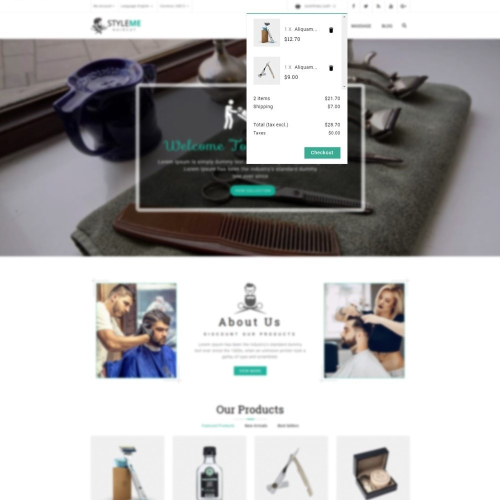 theme - Health & Beauty - Styleme - Barber Store - 6