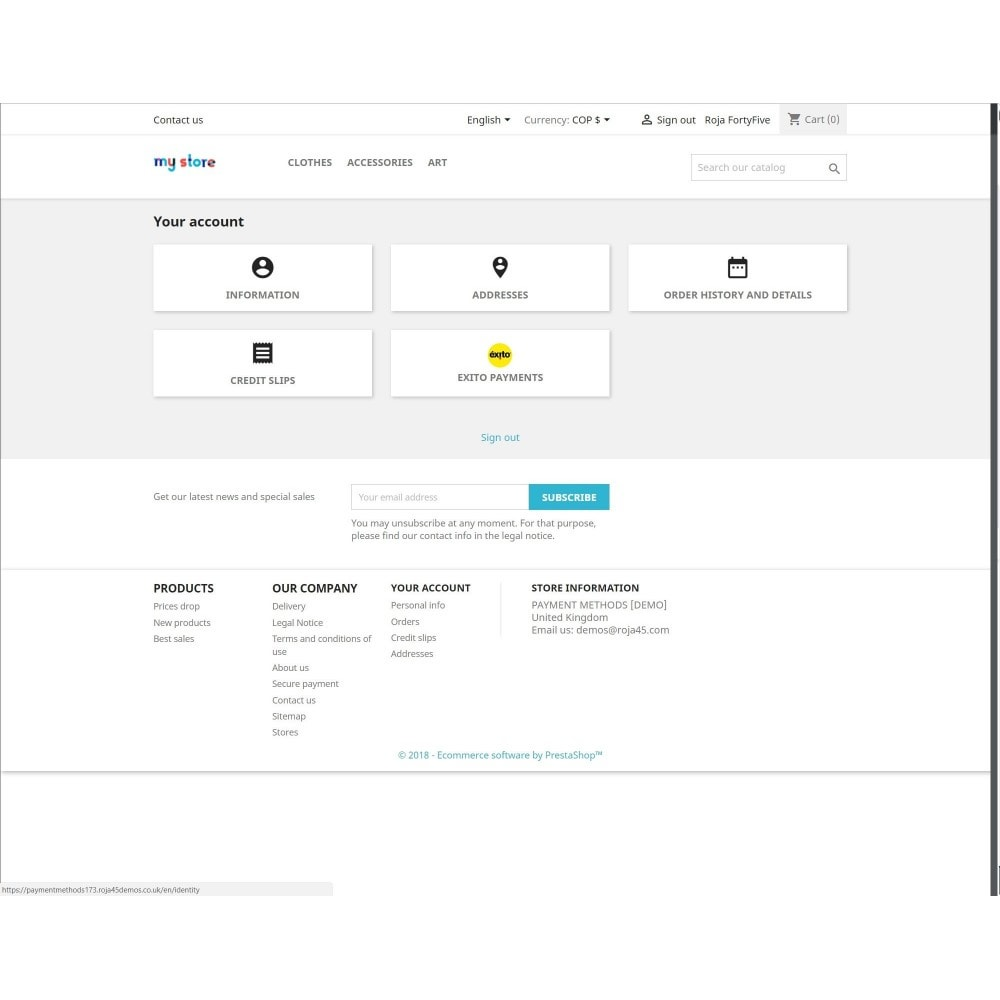 module - Payment by Invoice - Exito Payments for Prestashop 1.7 - 5