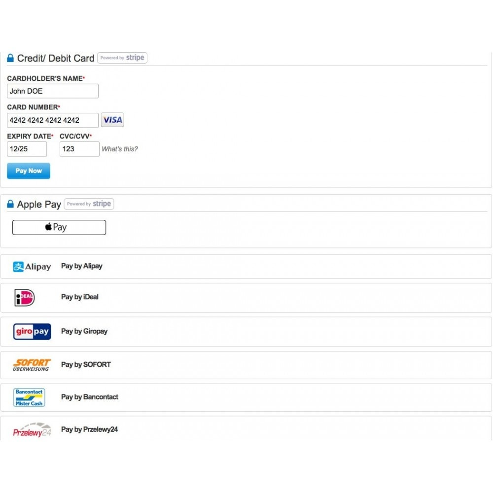 module - Payment by Card or Wallet - STRIPE Single + Recurring Payments/ Subscriptions - 7