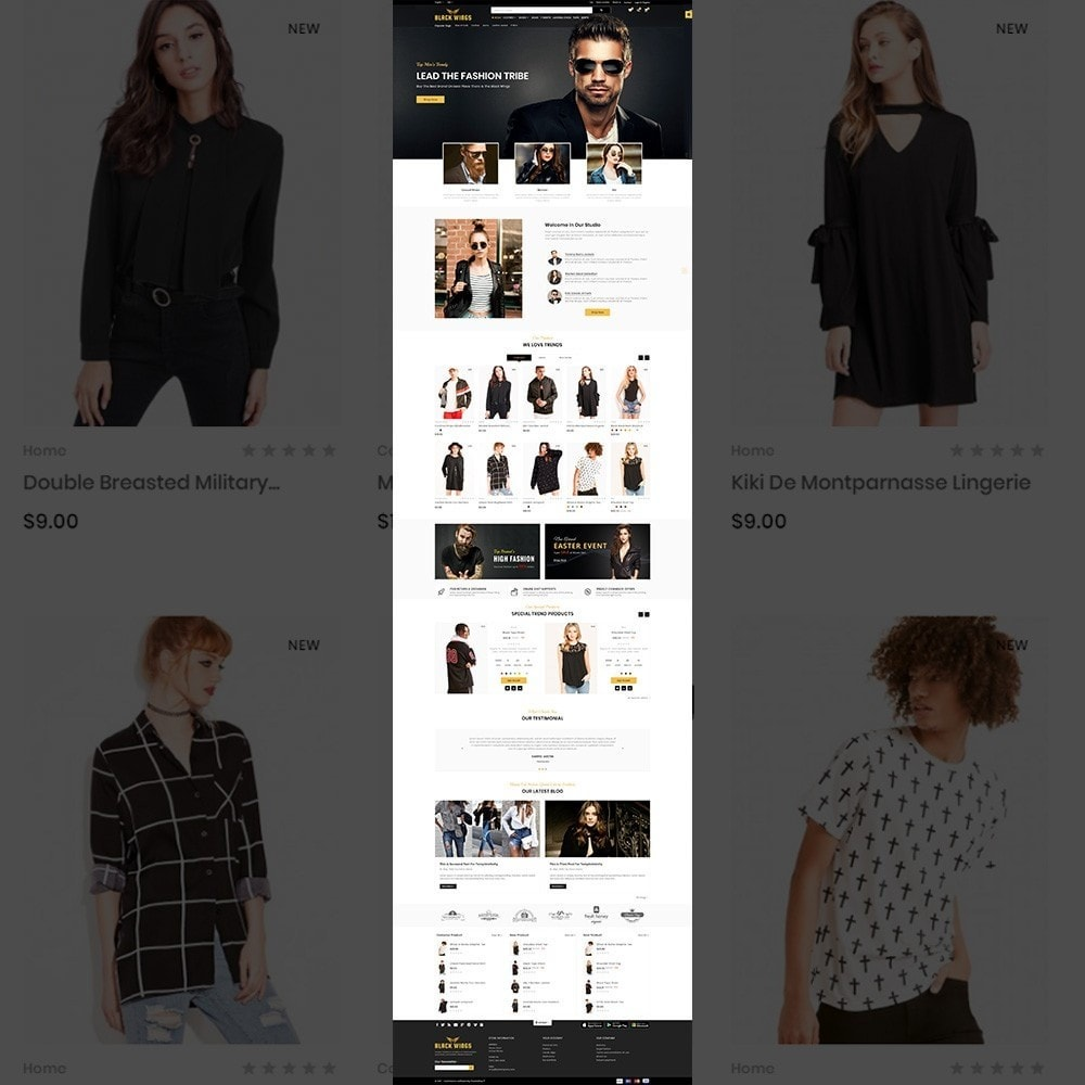 theme - Мода и обувь - Black Wings – Fashion Mega Purpose  Store - 2