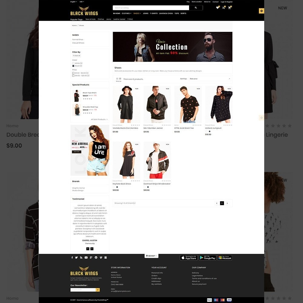 theme - Мода и обувь - Black Wings – Fashion Mega Purpose  Store - 3