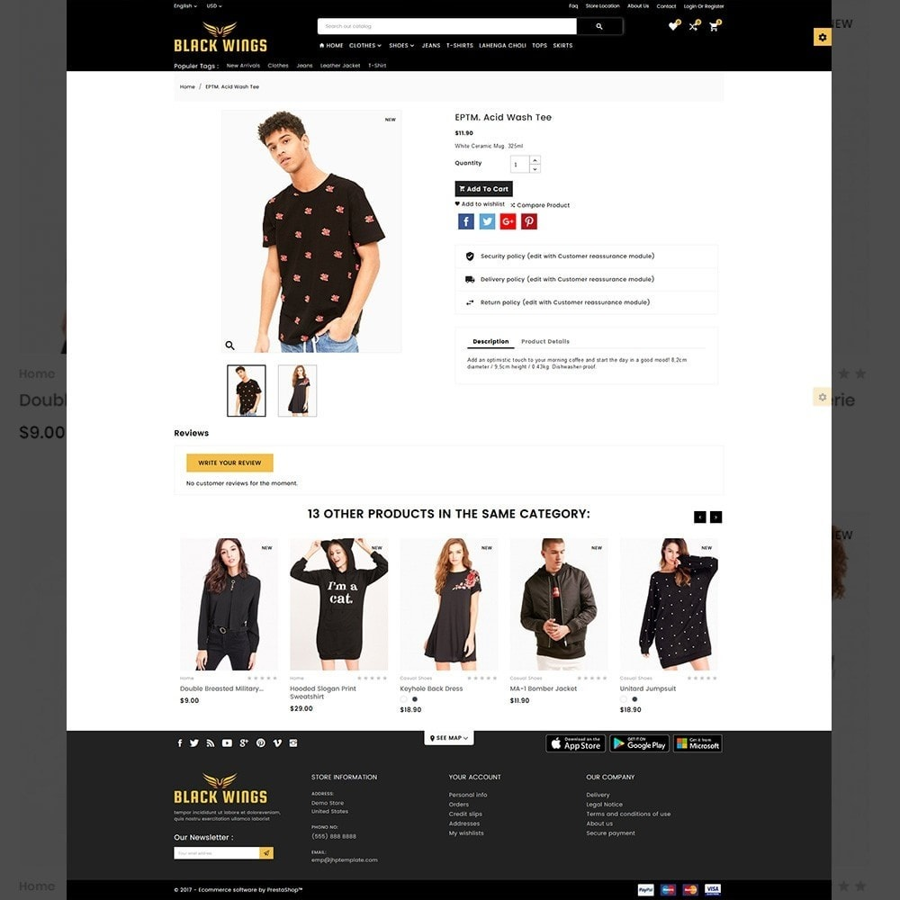 theme - Мода и обувь - Black Wings – Fashion Mega Purpose  Store - 4