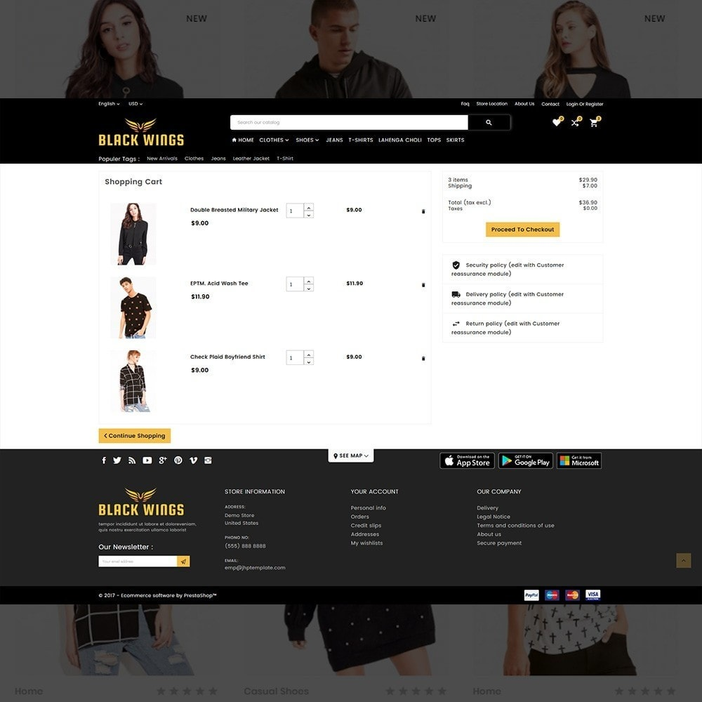 theme - Мода и обувь - Black Wings – Fashion Mega Purpose  Store - 5