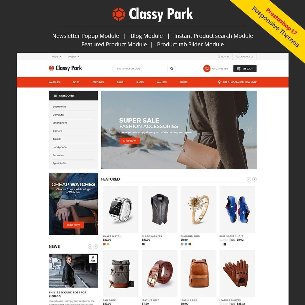 theme - Fashion & Shoes - Classy Fashion Store - 1