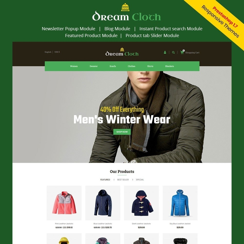 theme - Мода и обувь - Dream Cloth Store - 1