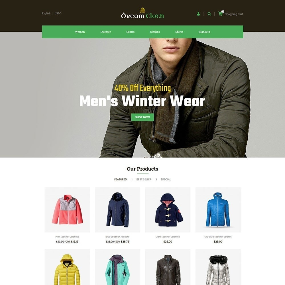 theme - Мода и обувь - Dream Cloth Store - 2