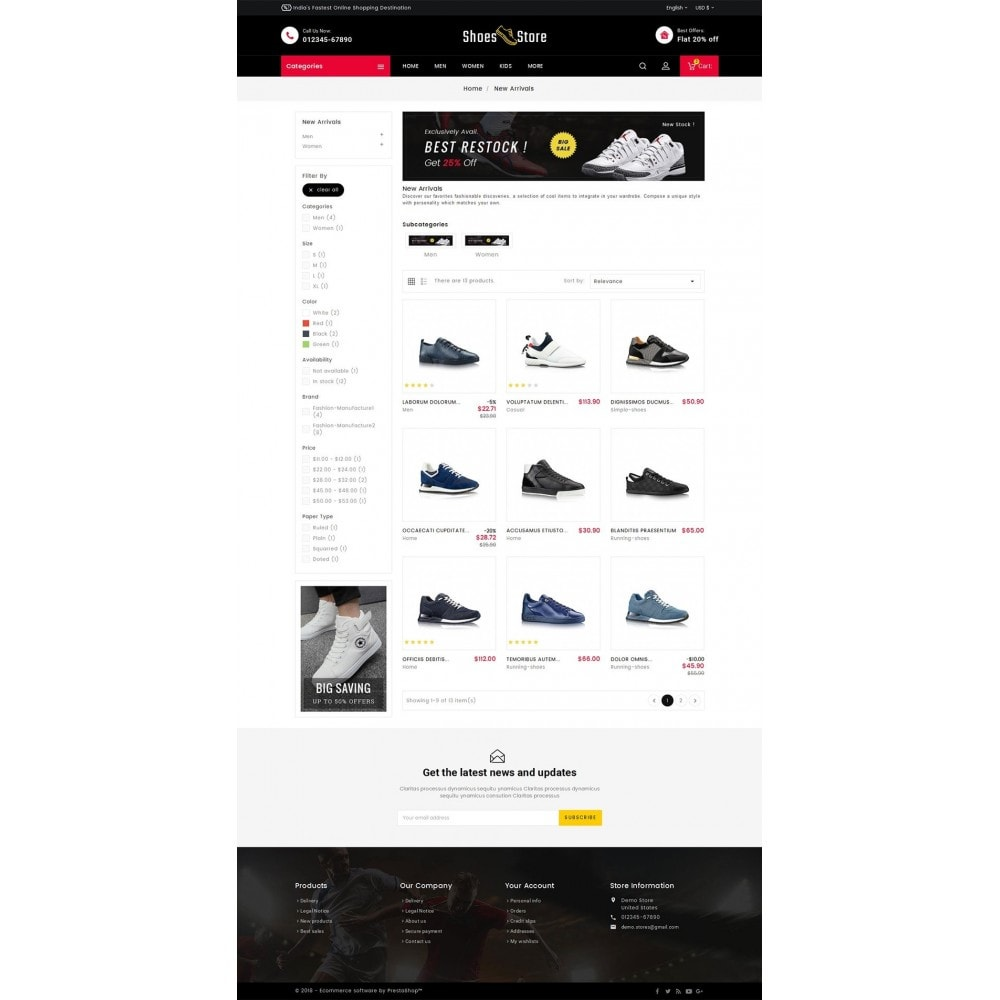 theme - Sport, Loisirs & Voyage - Sports Shoes Store - 4