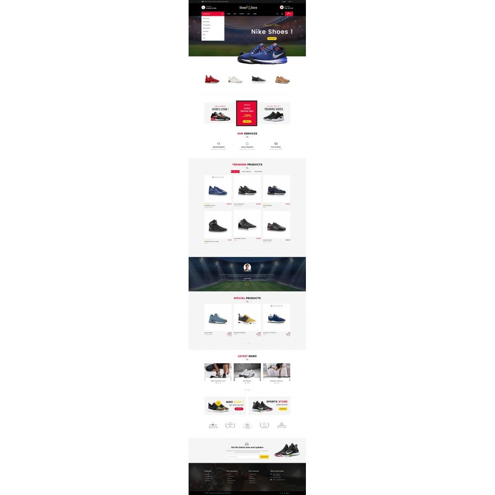 theme - Deportes, Actividades y Viajes - Sports Shoes Store - 3