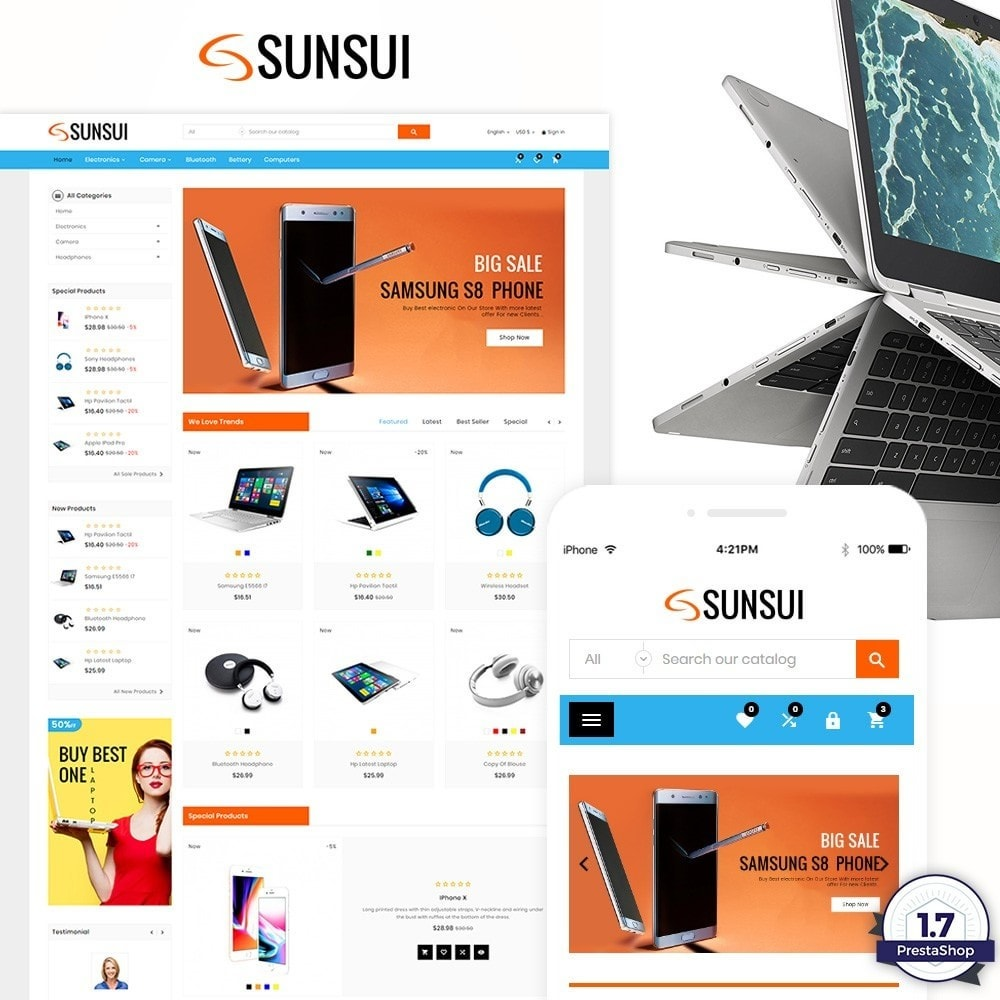 theme - Elektronika & High Tech - Sunsui – Electronic and Big Super Store - 1