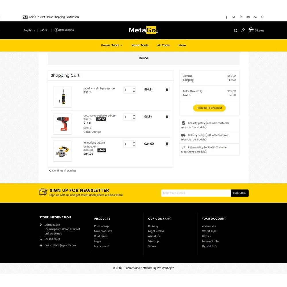 theme - Hogar y Jardín - Melano Power Tools - 7