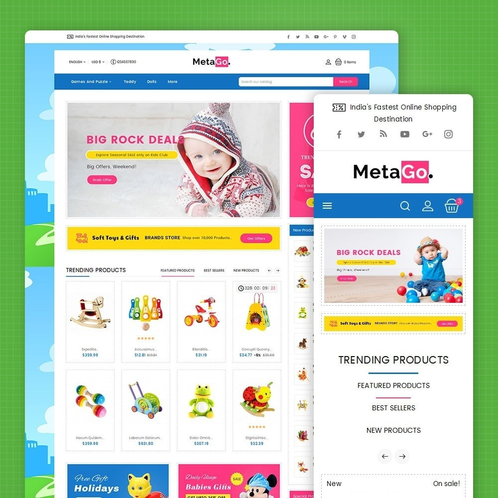 theme - Enfants & Jouets - Melano Kids Toys - 2