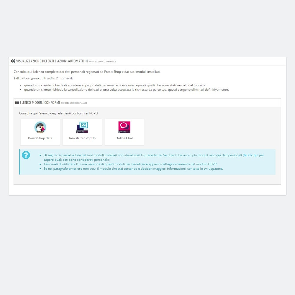 module - Legale (Legge Europea) - Official GDPR Compliance by PrestaShop (1.6) - 3