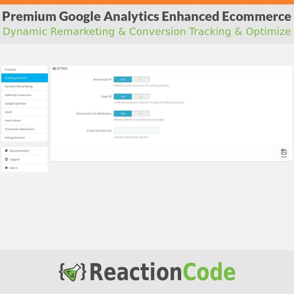 module - Informes y Estadísticas - Premium Google Analytics Enhanced Ecommerce - 3