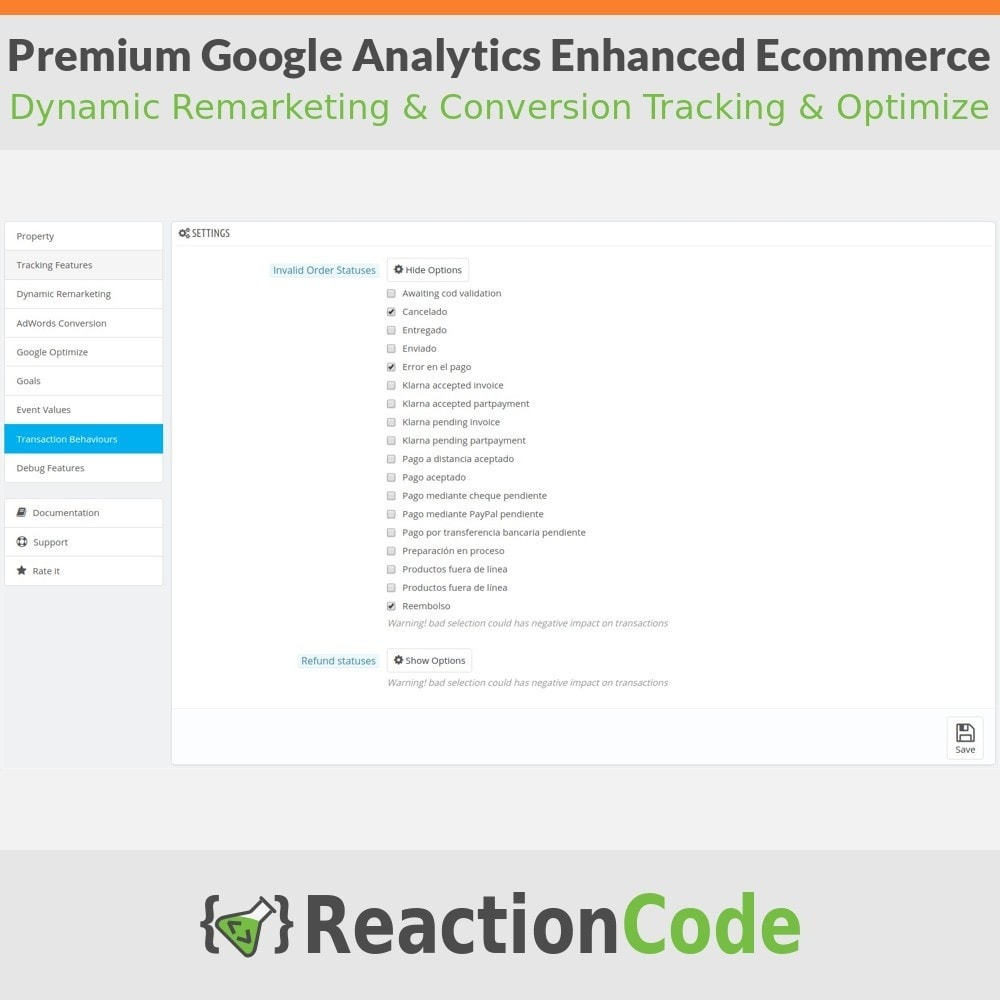 module - Informes y Estadísticas - Premium Google Analytics Enhanced Ecommerce - 9