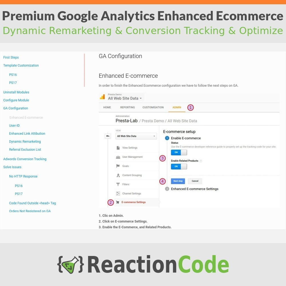 module - Informes y Estadísticas - Premium Google Analytics Enhanced Ecommerce - 12