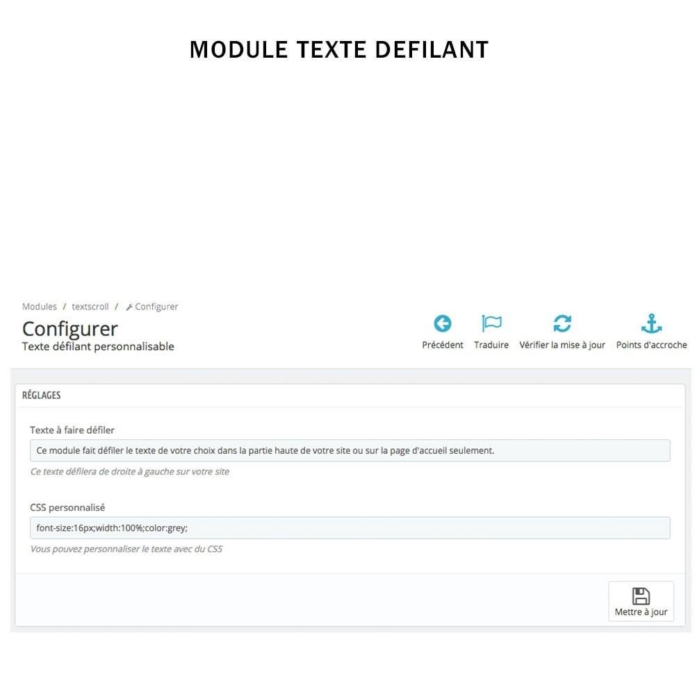 module - Outils de navigation - Texte défilant animé en css personnalisable - 2