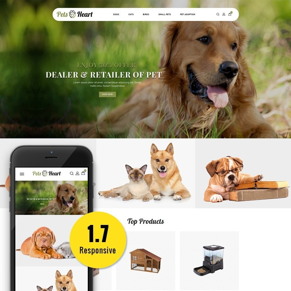 theme - Animaux - Pets Heart Store - 1