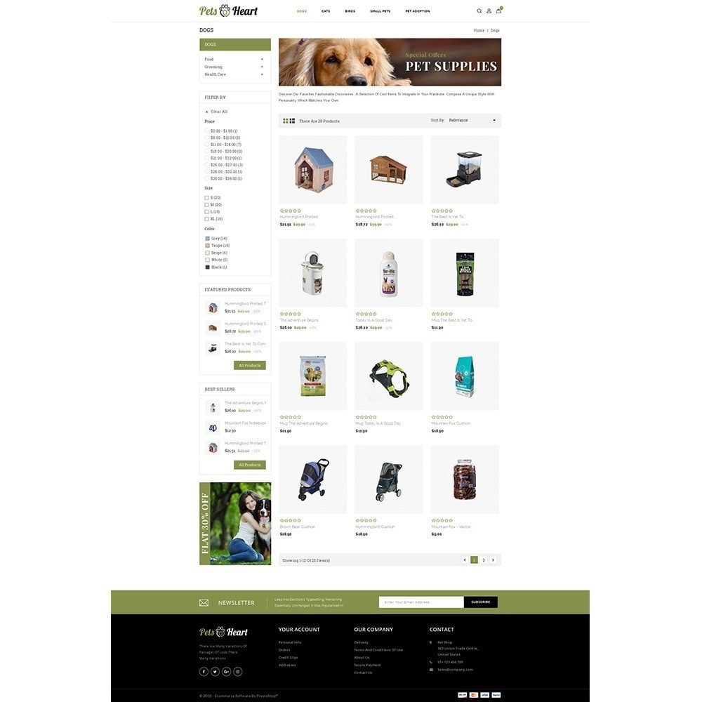 theme - Animaux - Pets Heart Store - 3