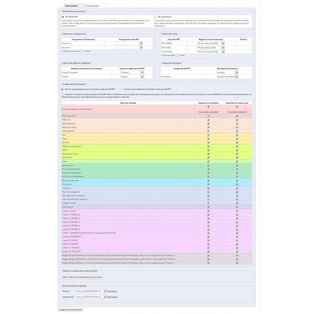 module - Gestion des Stocks & des Fournisseurs - KinTPV Connect V8 - 1
