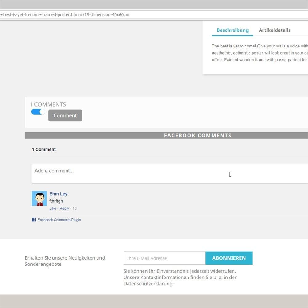 module - Kundenbewertungen - DSGVO sicher 2Klick Facebook Kommentare und Bewertungen - 1