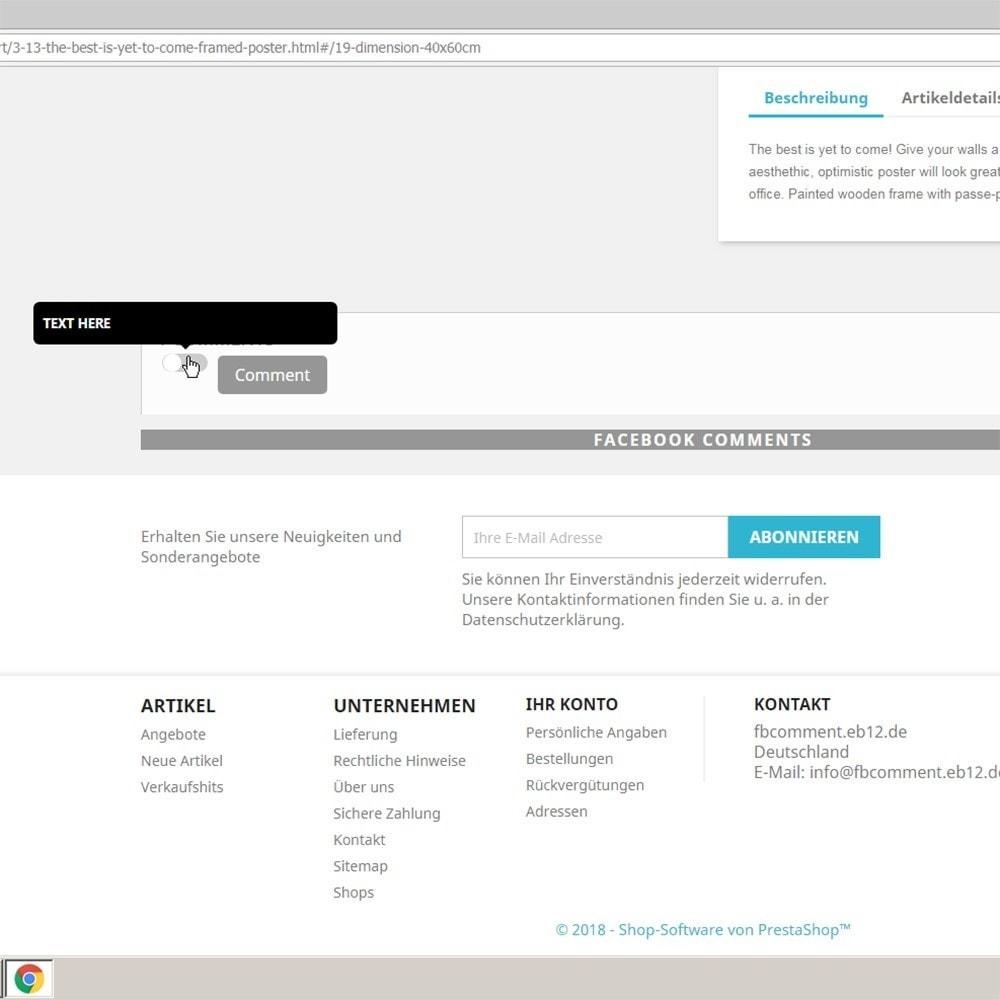 module - Kundenbewertungen - DSGVO sicher 2Klick Facebook Kommentare und Bewertungen - 2