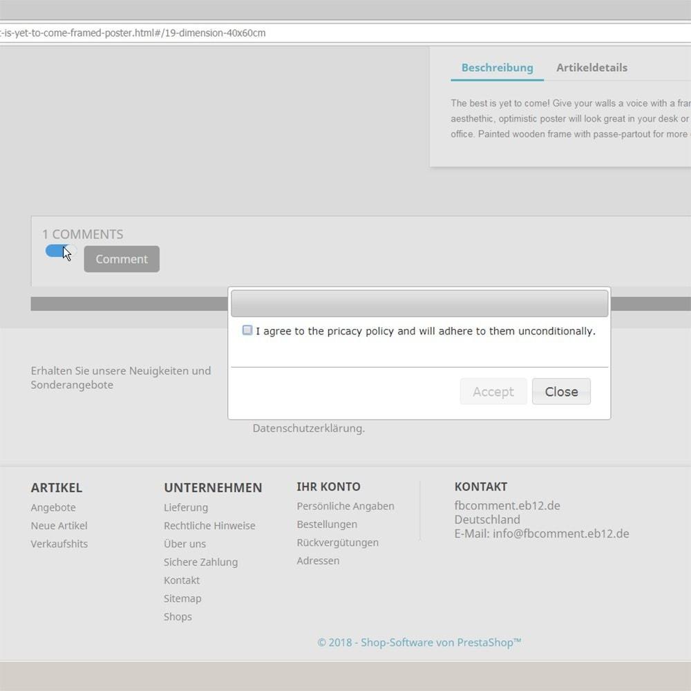 module - Kundenbewertungen - DSGVO sicher 2Klick Facebook Kommentare und Bewertungen - 4