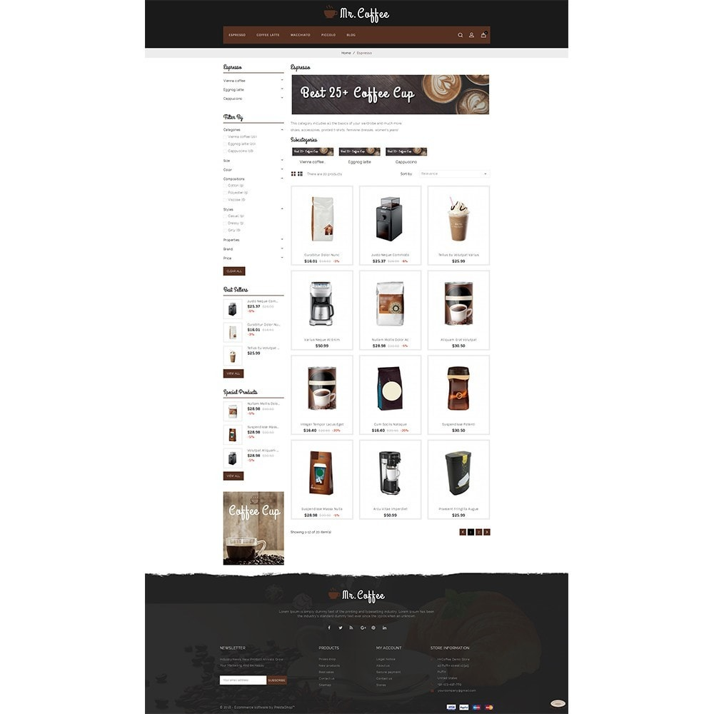 theme - Drink & Wine - MrCoffee Store - 3