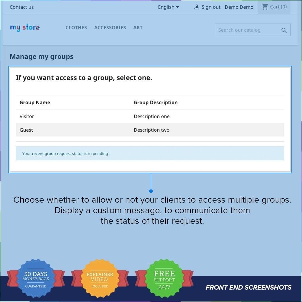 module - Cadastro e Processo de Pedido - Customer Groups Registration PRO - 4