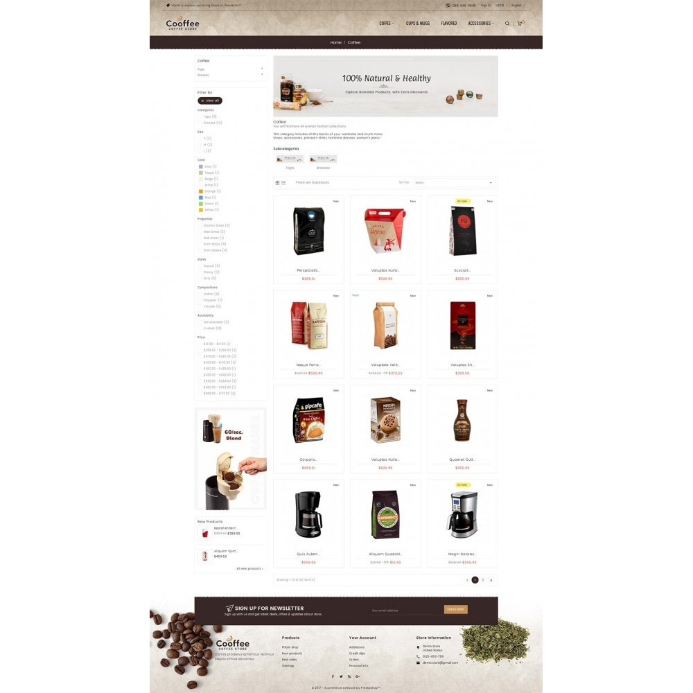 theme - Drink & Wine - Cold Coffee Store - 4