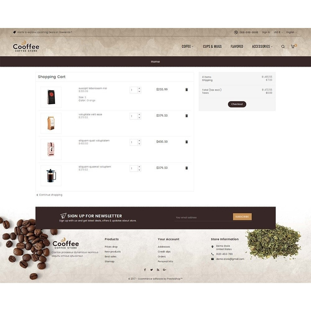 theme - Drink & Wine - Cold Coffee Store - 7