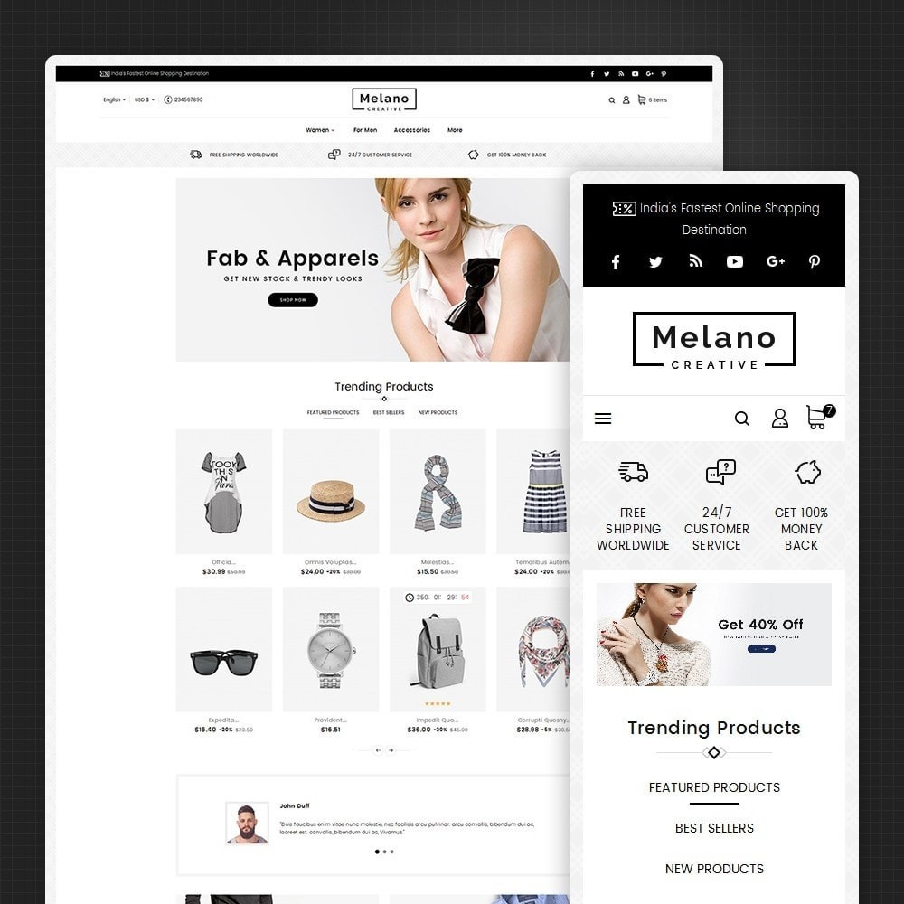 theme - Moda & Calzature - Melano Creative Fashion - 2
